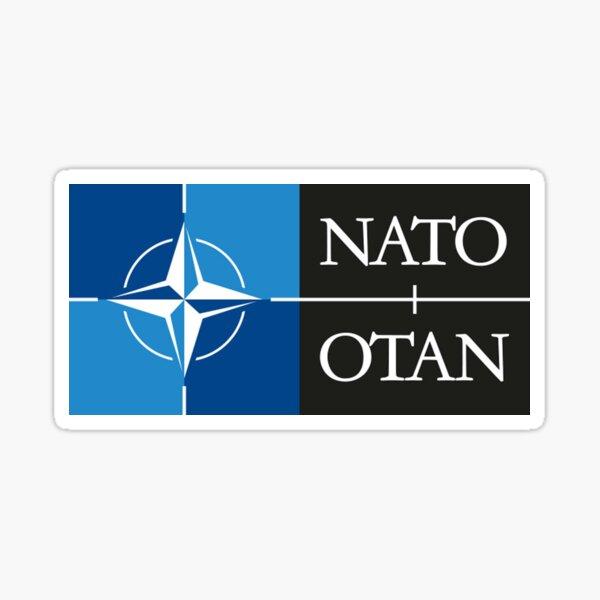 NATO. Logo of the North Atlantic Treaty Organisation, North Atlantic Alliance. Sticker
