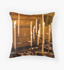Candles in St Paul Church Throw Pillow