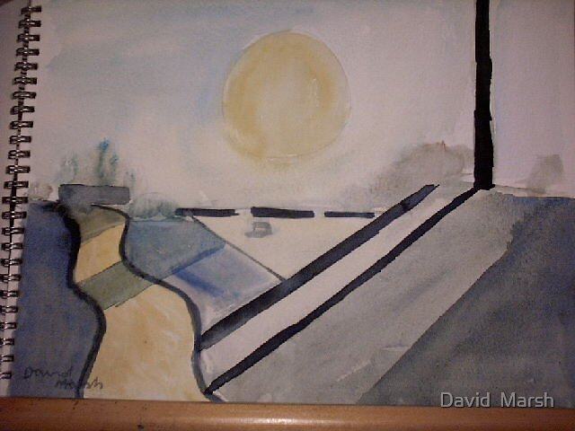 Circle and Lines by David  Marsh