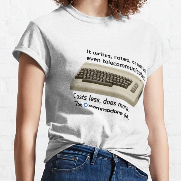 The Commodore 64 - Costs less, does more Classic T-Shirt