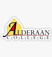 Alderaan College Sticker