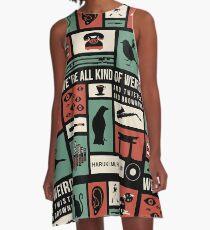 Haruki Murakami A-Linien Kleid