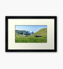 Stone hut in the Alps Framed Print