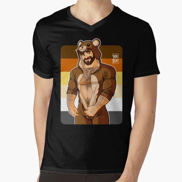 ADAM LIKES TEDDY BEARS - BEAR PRIDE V-Neck T-Shirt