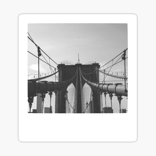Brooklyn Bridge Polaroid Sticker