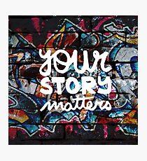 Lámina fotográfica colorido hip hop grunge tu historia importa graffiti
