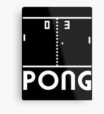 Pong Metal Print