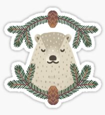 Christmas Bear Sticker