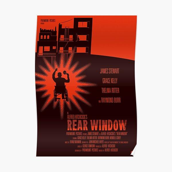 Fenêtre arrière d'Alfred Hitchcock Poster