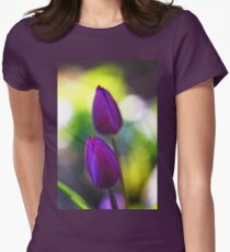 Evening Tulips Womens Fitted T-Shirt