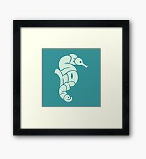 Seahorse Typography Framed Print