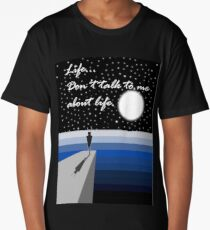 """Hitchhiker's Guide to the Galaxy - Marvin - """"Life...Don't talk to me about life""""  Long T-Shirt"""