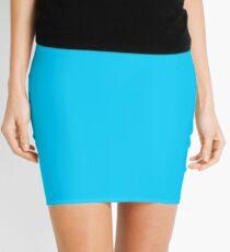Process Blue Solid Color Decor Mini Skirt