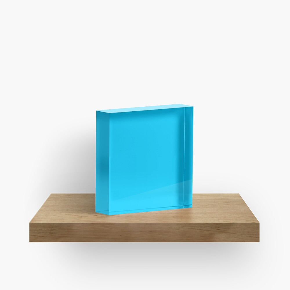 Process Blue Solid Color Decor Acrylic Block