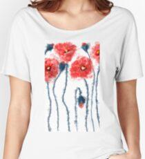 Oil poppy  Women's Relaxed Fit T-Shirt