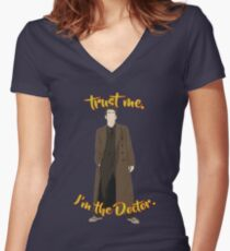 Trust me, I'm the Doctor (10) Women's Fitted V-Neck T-Shirt