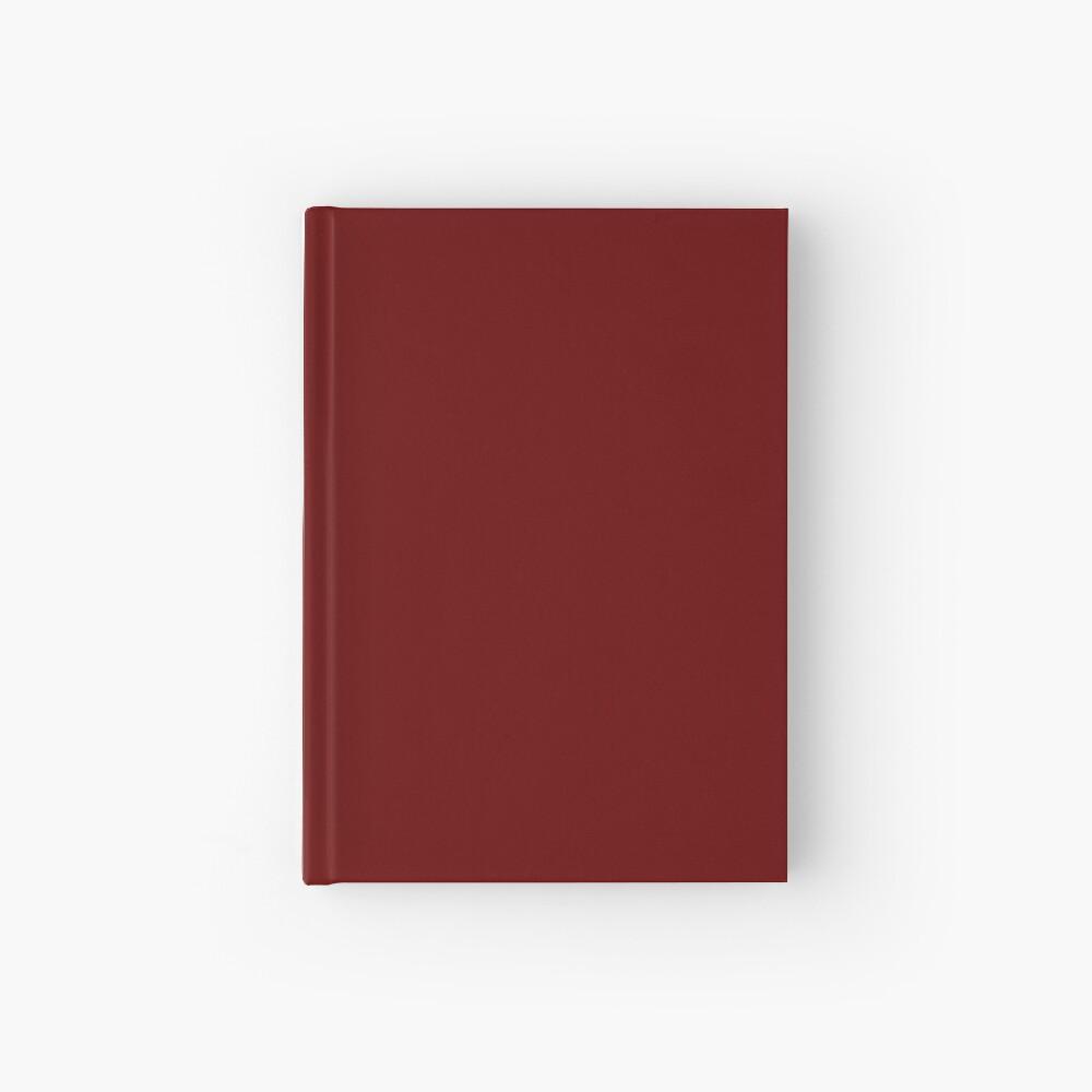Burgundy Red Solid Color Decor Hardcover Journal