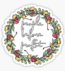 People Before Profit  Sticker
