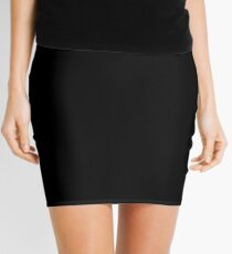 Solid Black Accent Decor Mini Skirt