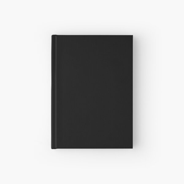 Solid Black Accent Decor Hardcover Journal