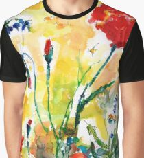 Wildflowers and Poppies Provence 2017 Graphic T-Shirt
