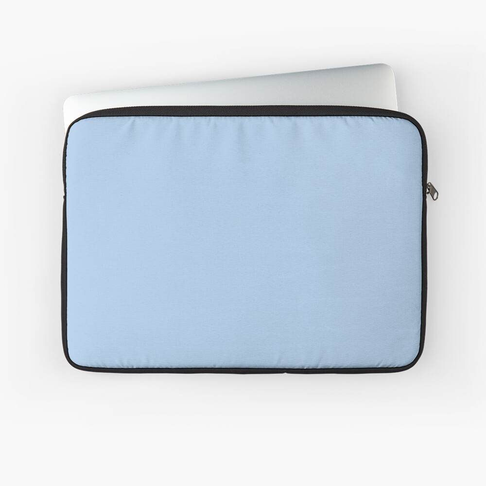Baby Blue Solid Color Decor Laptop Sleeve