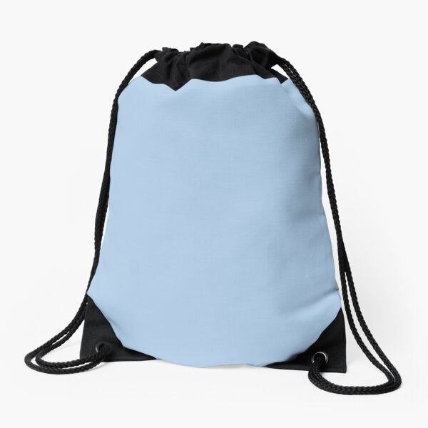 Baby Blue Solid Color Decor Drawstring Bag
