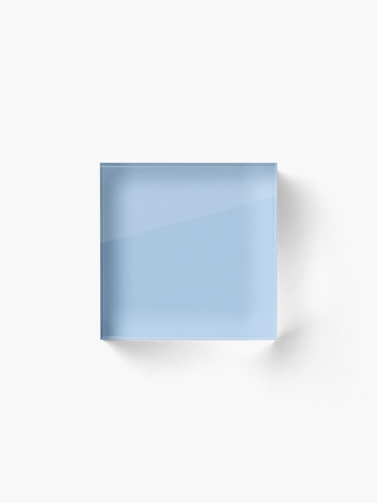 Alternate view of Baby Blue Solid Color Decor Acrylic Block