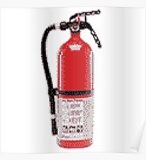 Fire Extinguisher Pixel Art Poster
