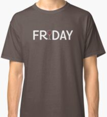 Funny FRIDAY Wine Glass Classic T-Shirt