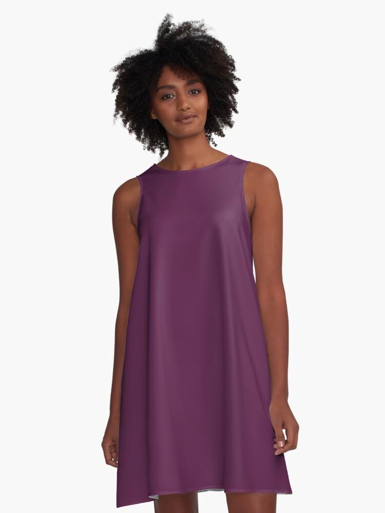 Moderno Profunda Vestido De Cóctel De Color Púrpura Molde - Ideas de ...