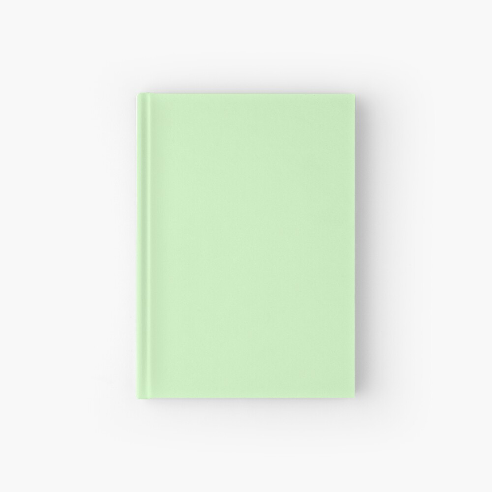 Mint Green Solid Color Decor Hardcover Journal