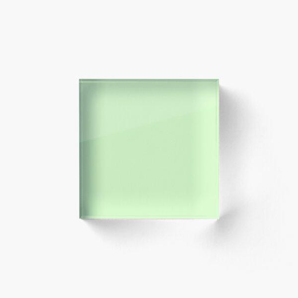 Mint Green Solid Color Decor Acrylic Block