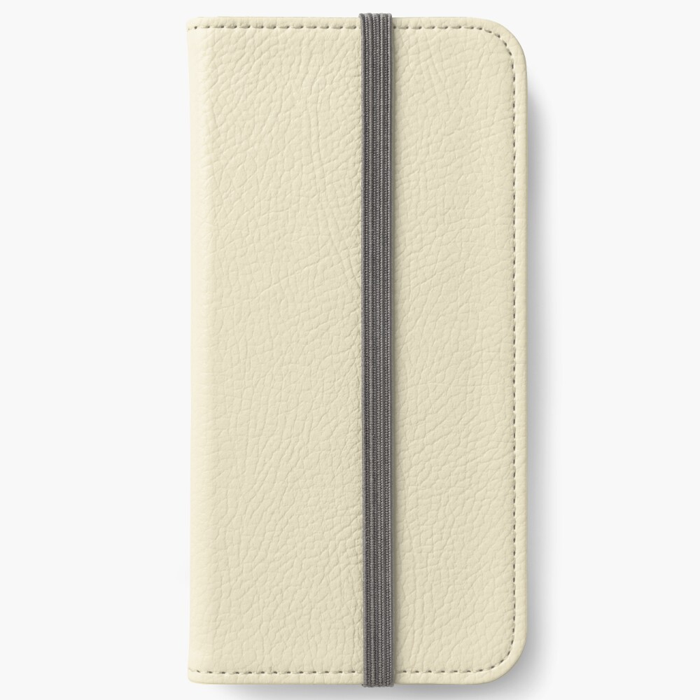 Builder's Beige Volltonfarbe Dekor iPhone Flip-Case