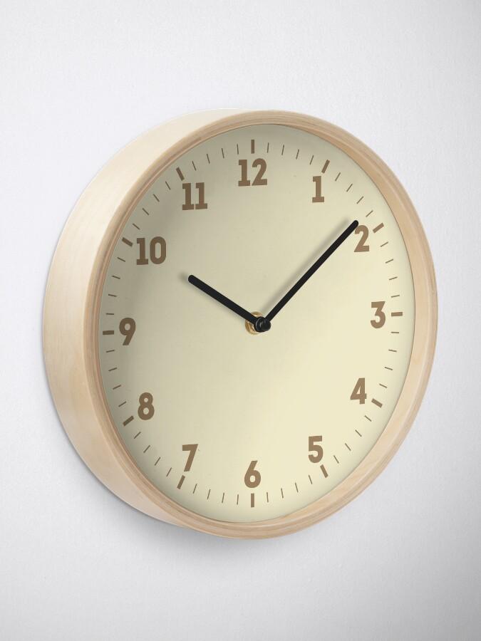 Alternative Ansicht von Builder's Beige Volltonfarbe Dekor Uhr