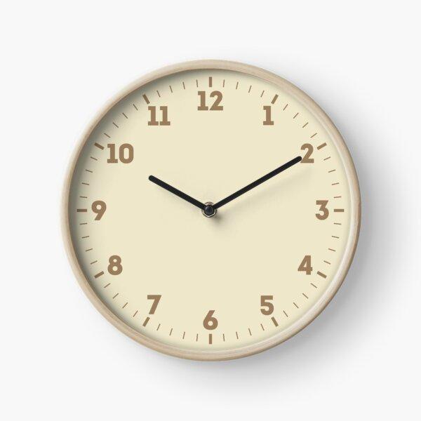 Builder's Beige Solid Color Decor Clock