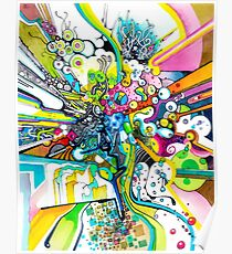 Tubes of Wonder - Abstract Watercolor + Pen Illustration Poster