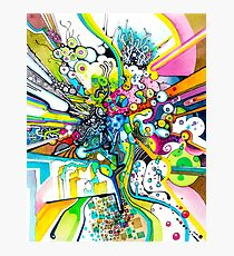 Tubes of Wonder - Abstract Watercolor + Pen Illustration Photographic Print