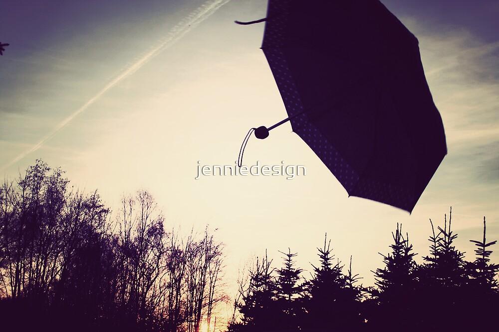 umbrella sunset by jenniedesign