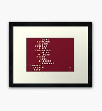 Arsenal Invincibles Framed Print