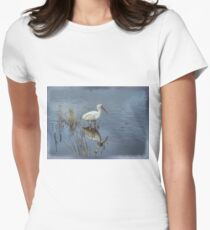 Wading White Ibis Womens Fitted T-Shirt