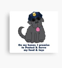 Police Chief Newfie Canvas Print
