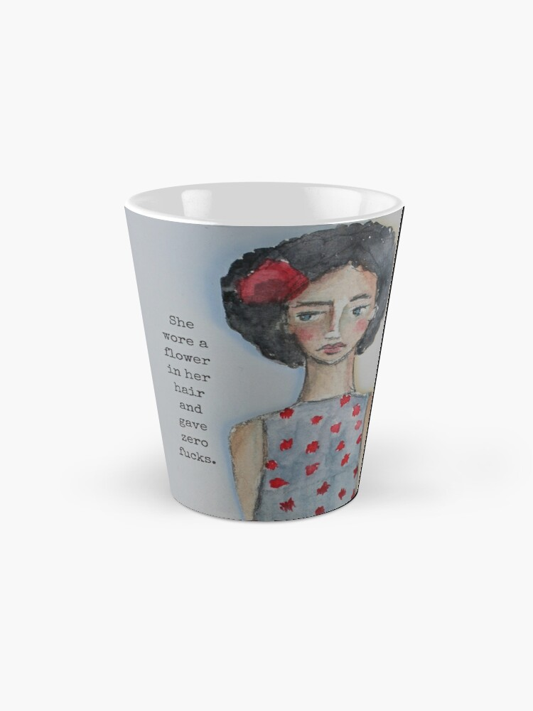 Alternate view of She Wore A Flower In Her Hair Mug