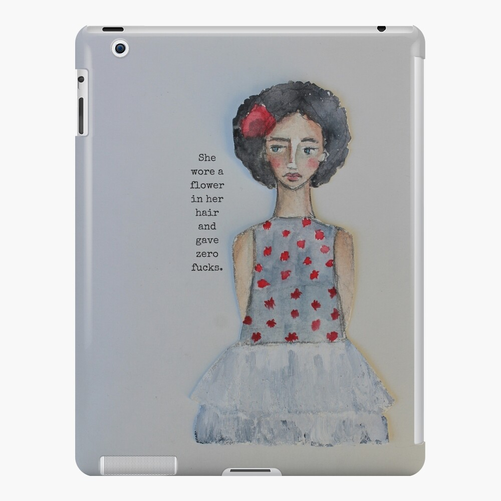 She Wore A Flower In Her Hair iPad Case & Skin