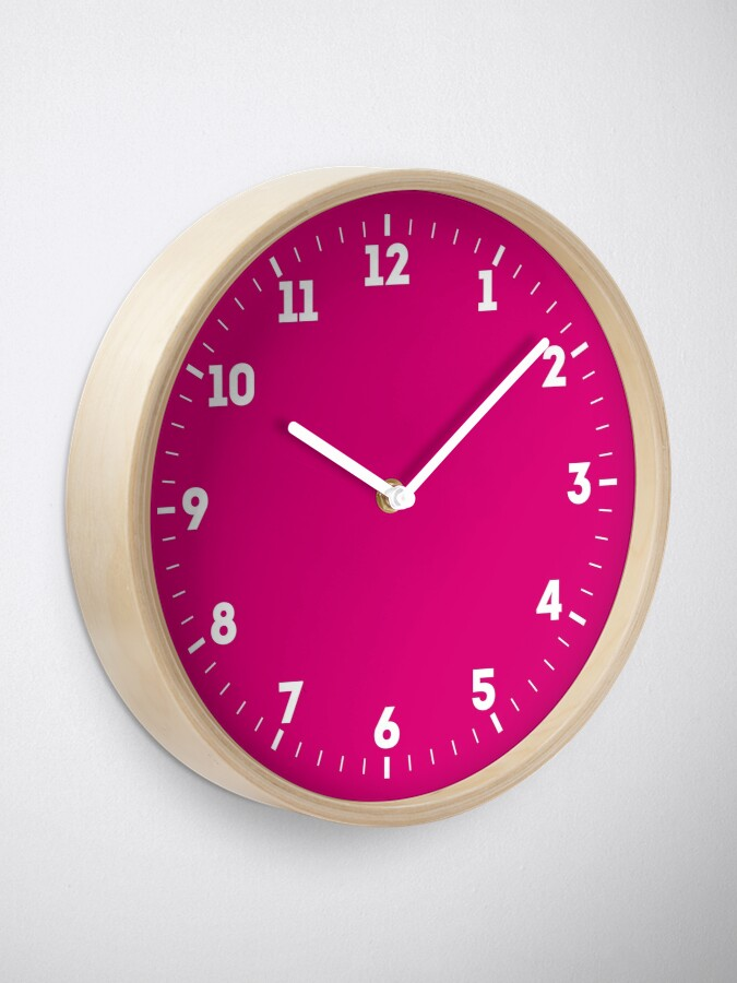 Alternate view of Hot Pink Fuchsia Solid Color Decor Clock
