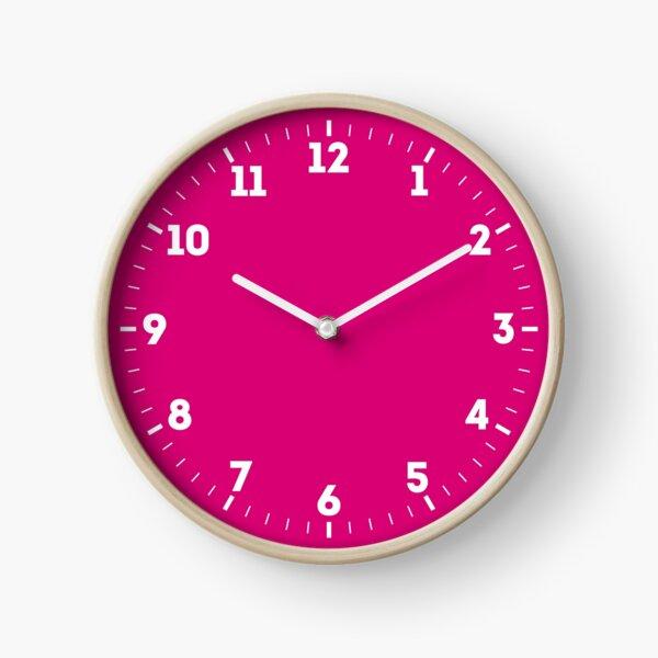 Hot Pink Fuchsia Solid Color Decor Clock