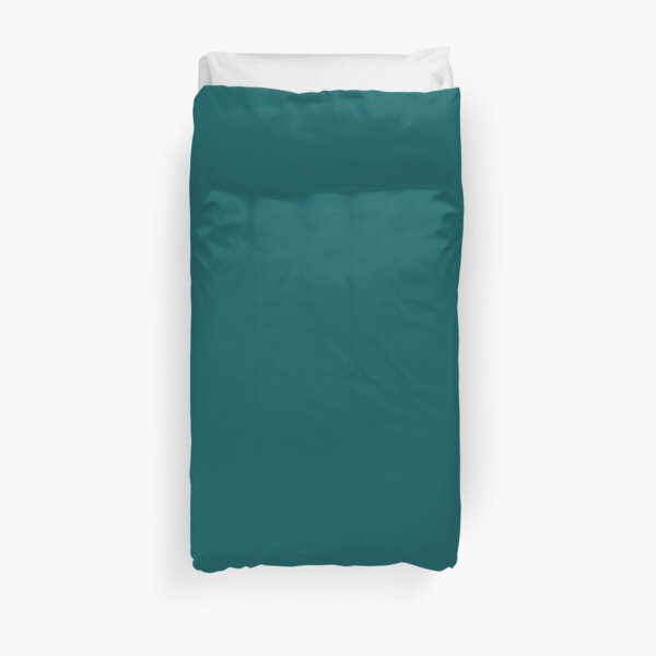 Teal Green Accent Solid Color Decor Duvet Cover