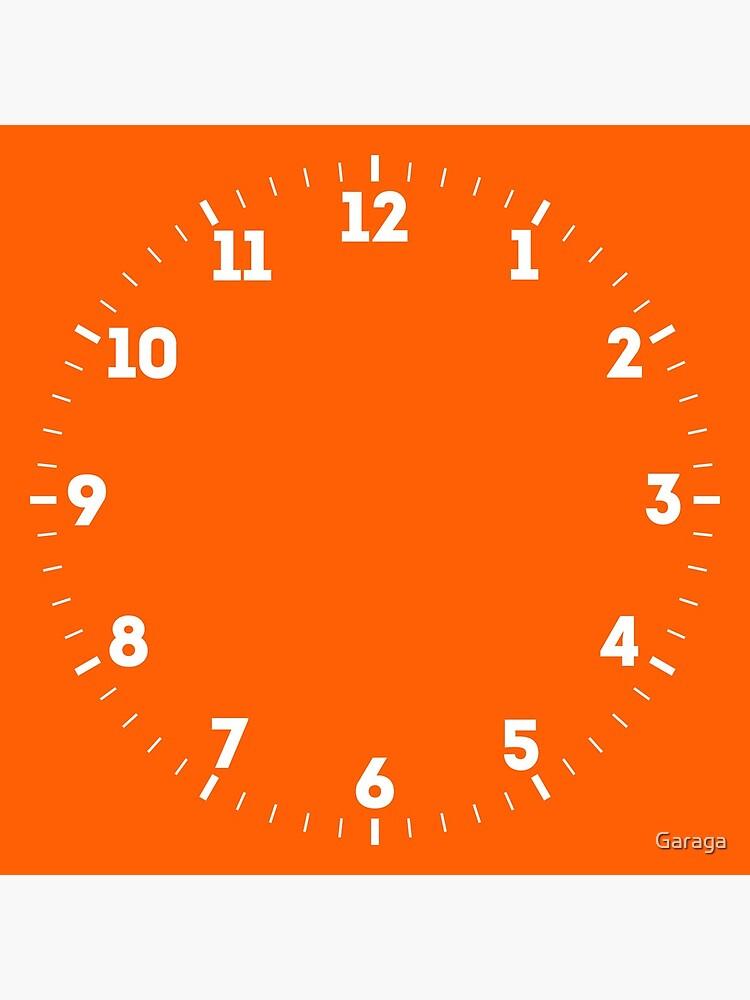Festive Orange Accent Solid Color Decor by Garaga
