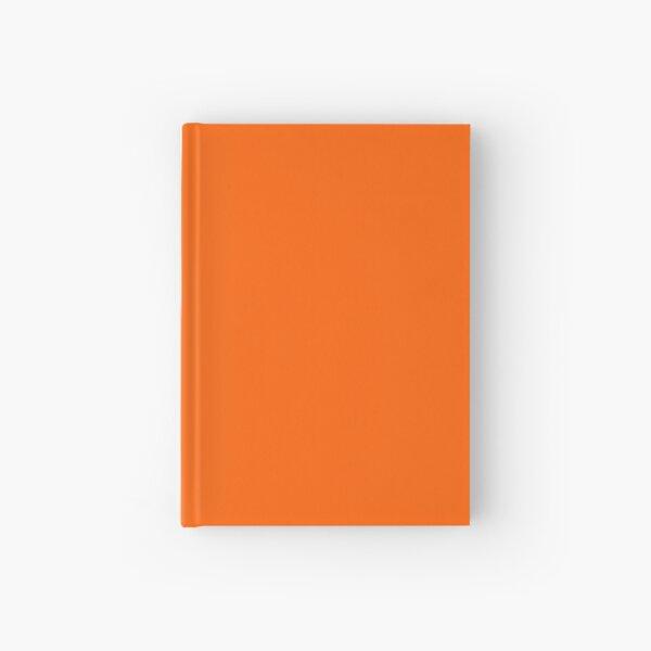 Festive Orange Accent Solid Color Decor Hardcover Journal
