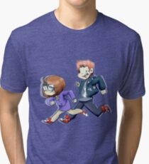 The Doctor and Her Assistant Tri-blend T-Shirt